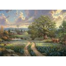 1 Puzzle Country Living 1000 Teile, T.Kinkade