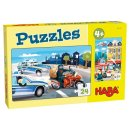 HABA Puzzles 24 Teile Im Einsatz 2 Motive