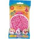 1 Hama Perlen Beutel 1000 Stück Pastell-Pink
