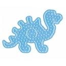 1 Hama Maxi Stiftplatte Dinosaurier transparent