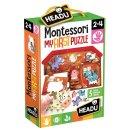 Headu Montessori Puzzle Formenpuzzle Bauernhof
