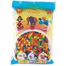 1 Hama Perlen Beutel 3000 Stück Neon Farben gemischt