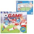 Malbuch Create Your Football Game mit 400 Stickern