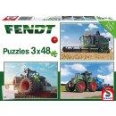 Fendt Puzzle 3x48 Teile mit Puzzleposter