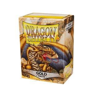 Dragon Shield Hüllen Standard Matte Gold (100 Sleeves)