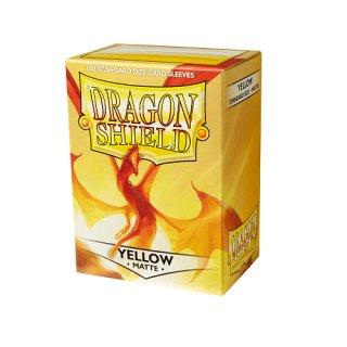 Dragon Shield Hüllen Standard Matte Yellow  (100 Sleeves)
