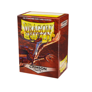 Dragon Shield Hüllen Standard Matte Crimson (100 Sleeves)