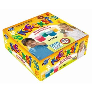 KLECKSi Fingermalfarbe 4x150g, wasserlöslich