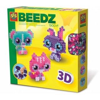Bügelperlenset 3D Tierische Freunde