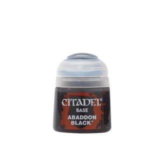 Modellbaufarbe Citadel Base ABADDON BLACK 12 ml