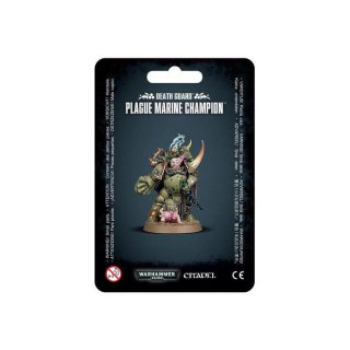 WARHAMMER 40k DEATH GUARD PLAGUE MARINE CHAMPION