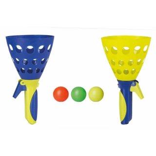 1 Fangballspiel XXL 2er Set inklusive 3 Bällen