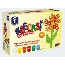 Klecksi 6 x 150 g Fingermalfarbe Basic Maxi